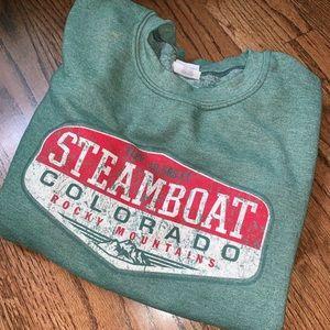 Extra cozy Steamboat Springs Colorado Vintage Crew